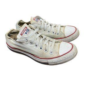 Converse White Low Cut Shoes, Boys/Mens Size 5